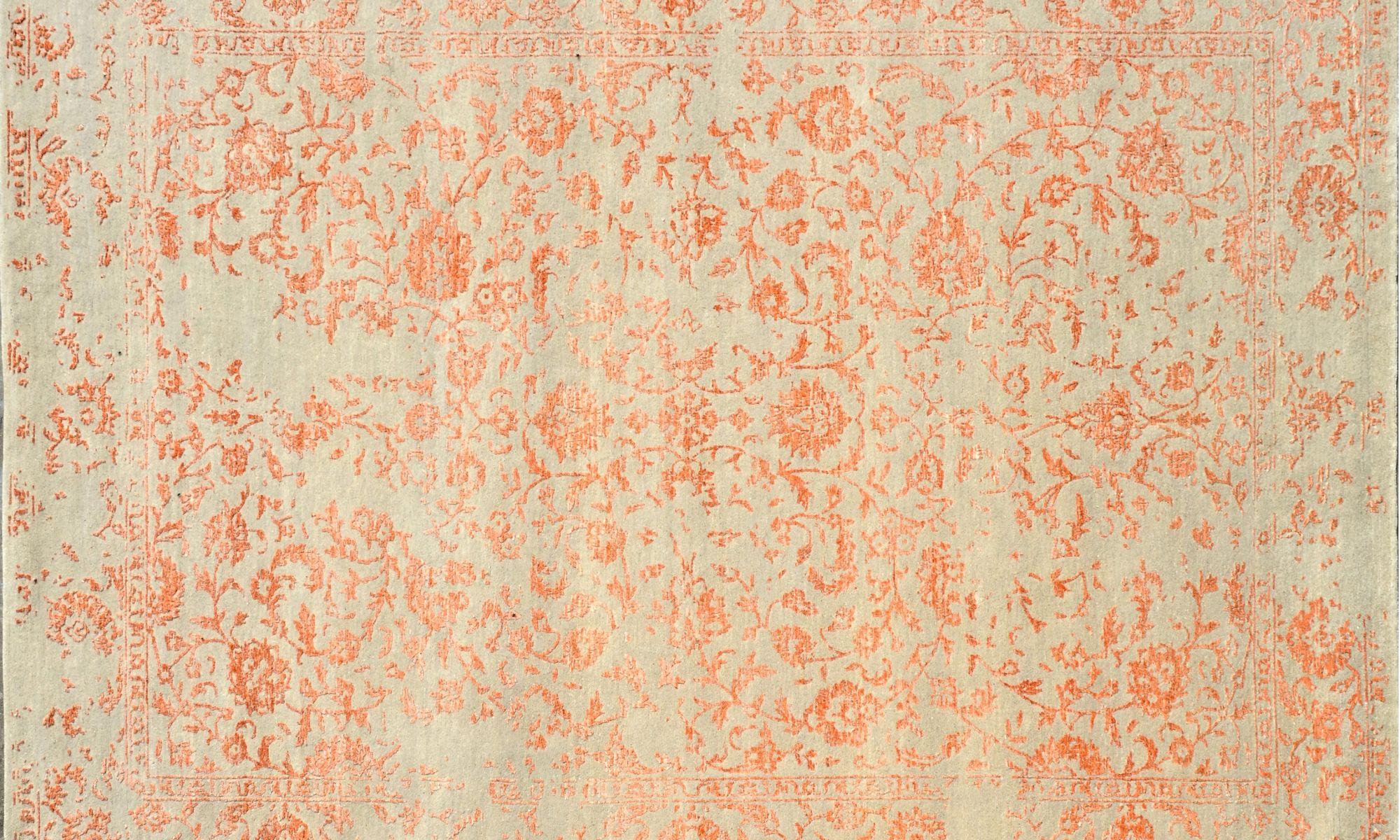 Modern Dara A416 orange beige